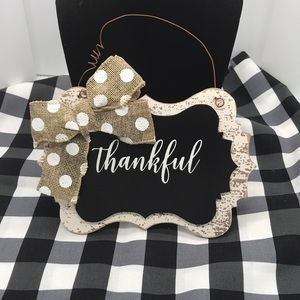 Thankful wooden plaque